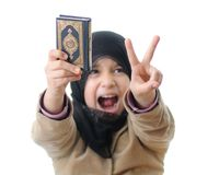 Muslim girl - intifada girl Royalty Free Stock Photo