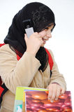 Muslim girl learning. Back to school Stock Photo