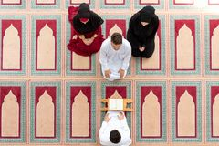 Muslim girl and the man marry by Muslim traditions Stock Photo