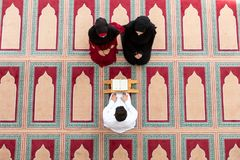 Muslim girl and the man marry by Muslim traditions Royalty Free Stock Images