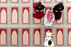 Muslim girl and the man marry by Muslim traditions Stock Photography