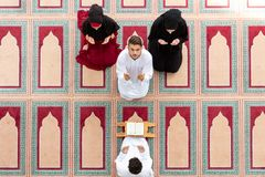 Muslim girl and the man marry by Muslim traditions Stock Photos