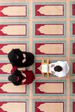 Muslim girl and the man marry by Muslim traditions Stock Image
