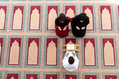 Muslim girl and the man marry by Muslim traditions Royalty Free Stock Image