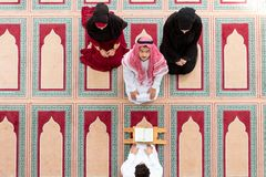 Muslim girl and the man marry by Muslim traditions Royalty Free Stock Photos
