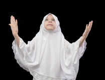 Muslim Girl During Prayer Stock Photos