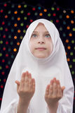 Muslim Girl Praying Stock Photo