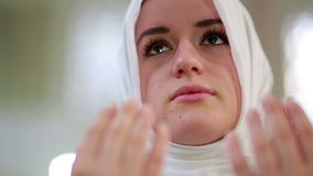 Muslim girl praying Royalty Free Stock Images