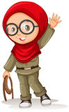 Muslim girl with red scarf Stock Photography
