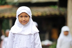 Muslim Girl at School Royalty Free Stock Image