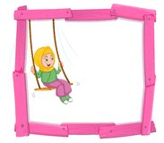 A muslim girl sin on swing frame royalty free illustration