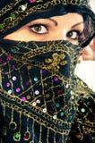 Muslim girl in studio Stock Photo