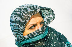 Muslim girl wearing higab Stock Image