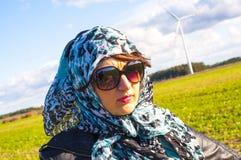 Muslim girl wearing higab Stock Photos