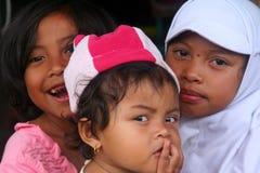 Muslim girls. Three Muslim girls, Bali, Indonesia Royalty Free Stock Photo