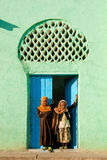 Muslim girls outside mosque in harar ethiopia Stock Image