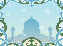 Muslim greeting card Royalty Free Stock Images