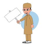 Muslim guy cartoon character Stock Image