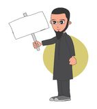Muslim guy cartoon character Royalty Free Stock Photo