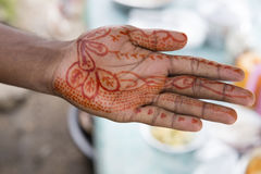 Muslim hand. Drawn up  after the New Year celebrations Royalty Free Stock Photo