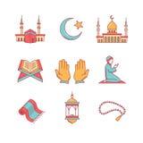 Muslim islam prayer and ramadan kareem Stock Images