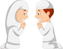 Muslim kid cartoon Stock Photos
