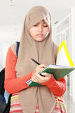 Muslim kid student study Stock Images