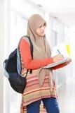 Muslim kid student study Stock Image