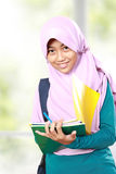 Muslim kid student study Royalty Free Stock Photos