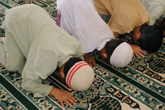 Muslim Kids Praying stock photography