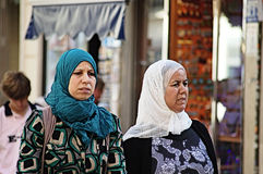 Muslim ladies in Malaga 2 Stock Images