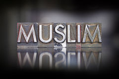 Muslim Letterpress Stock Photo