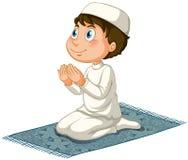 Muslim. Male muslim praying on mat Stock Photography