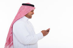 Muslim man cell phone Stock Photos