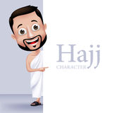 Muslim Man Character Performing Hajj or Umrah Royalty Free Stock Photo