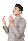 Muslim man doing prayer Royalty Free Stock Image