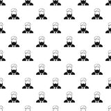 Muslim man pattern, simple style Royalty Free Stock Photography