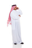 Muslim man phone Stock Photography