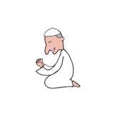Muslim man pray Stock Images