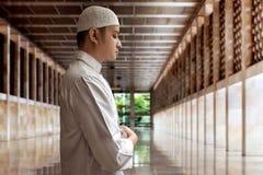 Muslim man praying. In mosque Stock Images