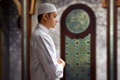 Muslim man praying. In mosque Royalty Free Stock Photography