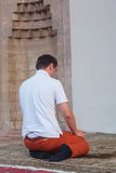 Muslim Man Praying In The Mosque Stock Photography