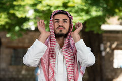 Muslim Man Is Praying In The Mosque Stock Images