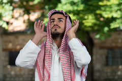 Muslim Man Is Praying In The Mosque Royalty Free Stock Photo
