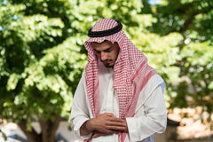 Muslim Man Is Praying In The Mosque Stock Photos