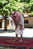 Muslim Man Praying At Mosque Royalty Free Stock Photos