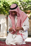 Muslim Man Praying At Mosque Stock Photography