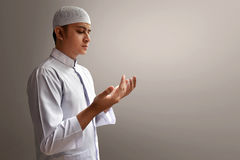 Muslim man praying. With peace Stock Photography