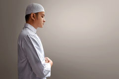 Muslim man praying. With peace Royalty Free Stock Images