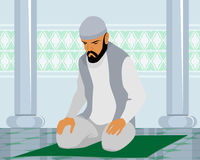 Muslim man praying Stock Image